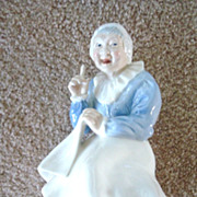 Very Rare Early Wade England Old Nannie Large Figurine
