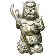 Japanese Sterling Silver Samurai Figurine