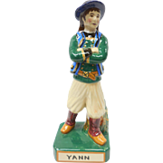 French Faience Quimper Figure Young lad