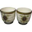 Victorian Pair French Old Paris Cachepots