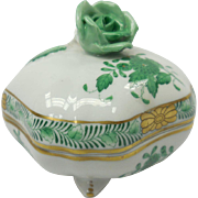 Hand Painted Hungarian Herend Porcelain Covered Dish