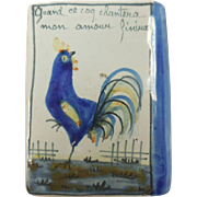 French Quimper Snuff in shape of Book