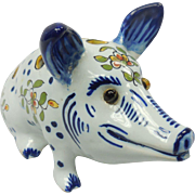 Desvres French Faience Potpourri Pig