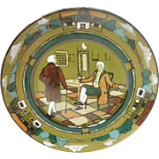 "Buffalo Pottery Deldare Plate ""At Ye Lion Inn "" C1908"