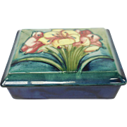 Moorcroft Pottery Lillies Box
