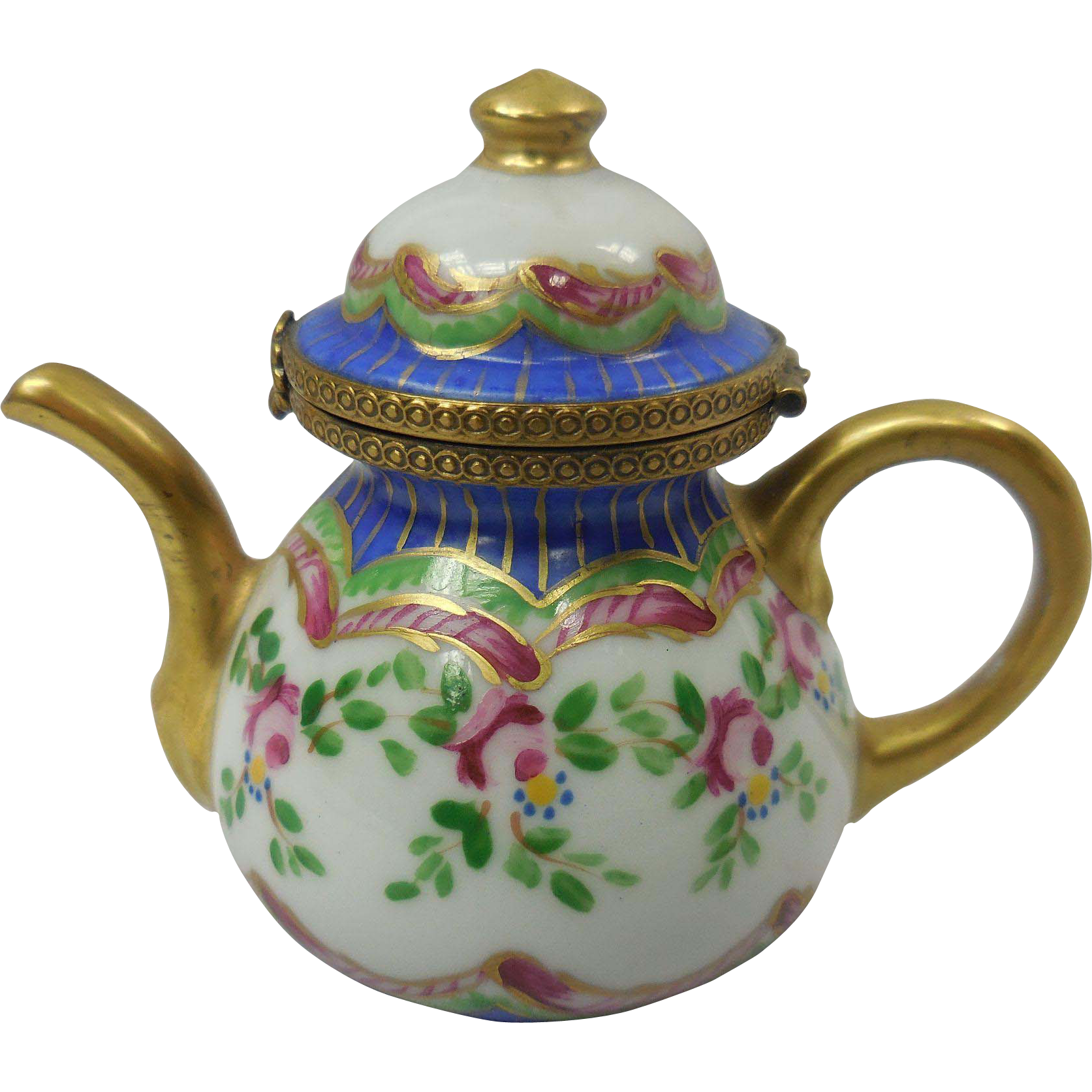 French Limoges Teapot Box