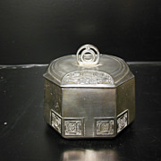 Arts & Crafts Movement Octagonal Metal Box - Austria