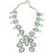 Navajo Squash Blossom Necklace