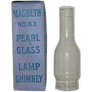 "Mint Unused No.63 ""MacBeth"" Standard #2 Size Chimneys with Straight Fitters and Stil"