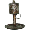 Patent Dated 1856 Tin Fat Lamp !
