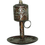 REDUCED Patent Dated 1856 Tin Fat Lamp !