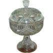 "Rare EAPG ""Shields & Stars"" Sweetmeat Covered Dish with Footed Base !"