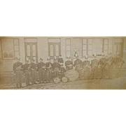 Civil War Period, Unknown Cornet Band , Sidewalk Group Photo .