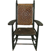 "Child's Rocker ""Manufactured by L. J. Colony Keene,NH."" Stamped on Armrest Circa 188"