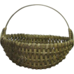 Desirable Small Size Splint White Oak Woven Oval Basket  !