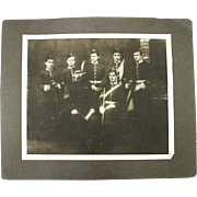 Rare Identified Photo Group of the 4th Volunteer Battalion Manchester Regiment Signal Corp. Ba
