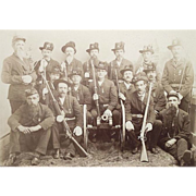 REDUCED G.A.R POST # 385 Honor Guard from Williamsport,Pa. Civil War Veterans Group Photo Circ