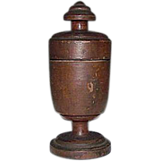 REDUCED Artist Signed & Dated 1910 Treenware Spice Urn !