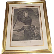 "REDUCED Authentic 1796 Engraved Print of ""Napoleon Bonaparte on the Arcole Bridge Nov.17,"