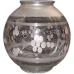 "Mint Engraved with Frosted Bands ""Hanging Hall Lamp Ball Shade"" for a 4 1/4 inch Fixture."