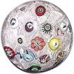 Baccarat Spaced Millefiori Cane Paperweight with Gridel Figures Dated 1848 !!! From their Early Period of Master Craftsmanship.