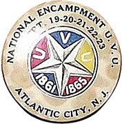 44th National Encampment 1910 Civil War Veterans U.V.U. Dated Sept. 19,20,21,22,23. Atlantic C