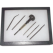 "Signed ""Ezra F. Bowman & Co. Lancaster"" & Patent Dated 1889  Watchmakers/Jewelers  Engraving Tool Set  !"