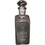 REDUCED Rare Embossed Colgate Company's Logo Perfume Bottle with Ground & Polished Seeing Eye
