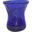 Whimsical Blown Cobalt Blue Miniature Glass Vase !