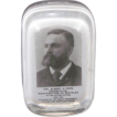"Founder of Bicycle Manufacturing ""Col. Albert A. Pope"" Paperweight Produced by Barnes & Abrams Pat. Sept.8,1882."