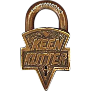 Original &quot;Keen Kutter&quot; Brass Padlock Prod. St.Louis,USA. 12-19-05 & 01-2-06 ...
