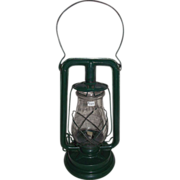 """Paull's No. 0"" Lantern with a Very Nice Green Enamel  Paint !"
