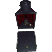 "REDUCED Rare Triangular Lantern marked ""The Darkroom Paragon Lamp"" on Match Striker"