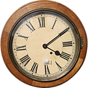 Seth Thomas 8 Day  Oak Gallery Clock, with 12 inch Dial !