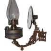 "Rare marked  ""Bradley's Factory Security Lamp""  with Reflector & Factory Tag !!!  Ca. 1880's."