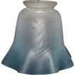 Satin Frosted & Blue Ruffles Electric Lamp Shade !!!    Ca. 1910.