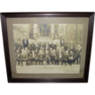 "The ""First Defenders""  30 Civil War Veteran Group Photo, as seen in front of the Civil War Monument, on the Square, in  Allentown,Pa."