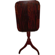 Mahogany Veneered Country Hepplewhite Tilt Top Candlestand  / Firescreen !!!   Ca. 1860.