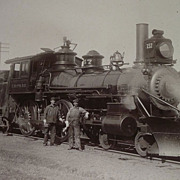 "Chicago, St Paul, Minneapolis & Omaha Railway ""C. St. P. M. & O."" Steam Locomotive E"