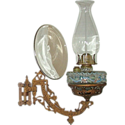 Wall Bracket Oil Lamp complete with Reflector  &quot;Patent Dated 1881&quot; !!!
