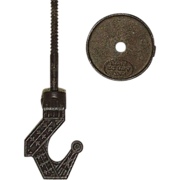 "Cast Iron ""Ceiling Hook with Plate"" ! Ca. 1890"