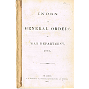 "Original Civil War Group ""Index of General Orders"" 1863 Booklet, and Ordnance Office"