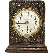 "Decorator ""Ironclad"" Cast Iron Kitchen Alarm Clock does Not Run. Ca. 1890."