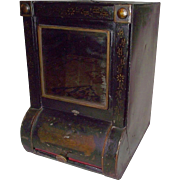 General Store Tin  Dispenser with Original Bevel Cut Front  Mirror ! Ca. 1895.
