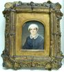 Mrs. Baker - Ivory Miniature in Gesso Wood Frame