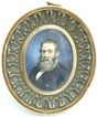 Miniature Portrait on Ivory by Walter Barnard, 1876