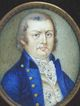 c. 1800 Miniature on Ivory in Large Frame