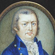 REDUCED c. 1800 Miniature on Ivory in Large Frame