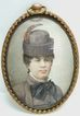 Hungarian Miniature on Vellum - Woman with Feather in Hat