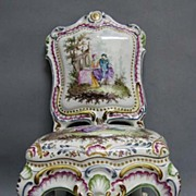 Rare 18th c. Figural Capodimonte Chair